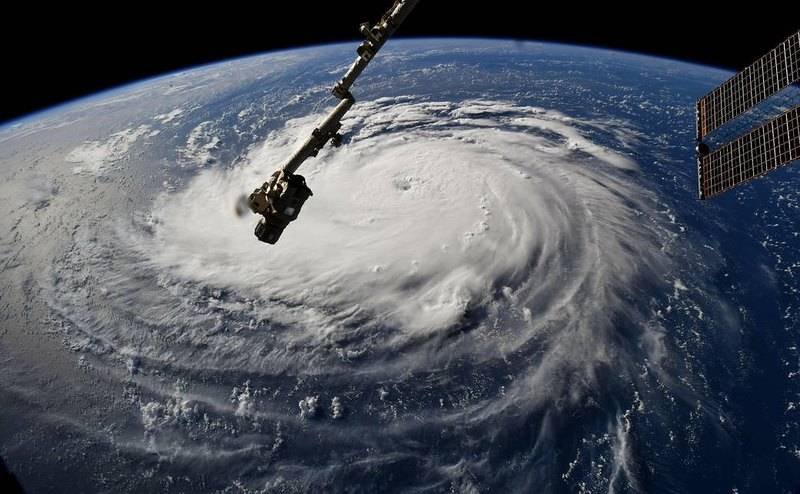 Ураган Флоренс —снимок, сделанный космонавтом Рикки Арнольдом