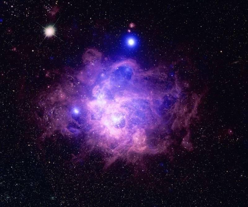 Изображение региона звездообразования NGC 604