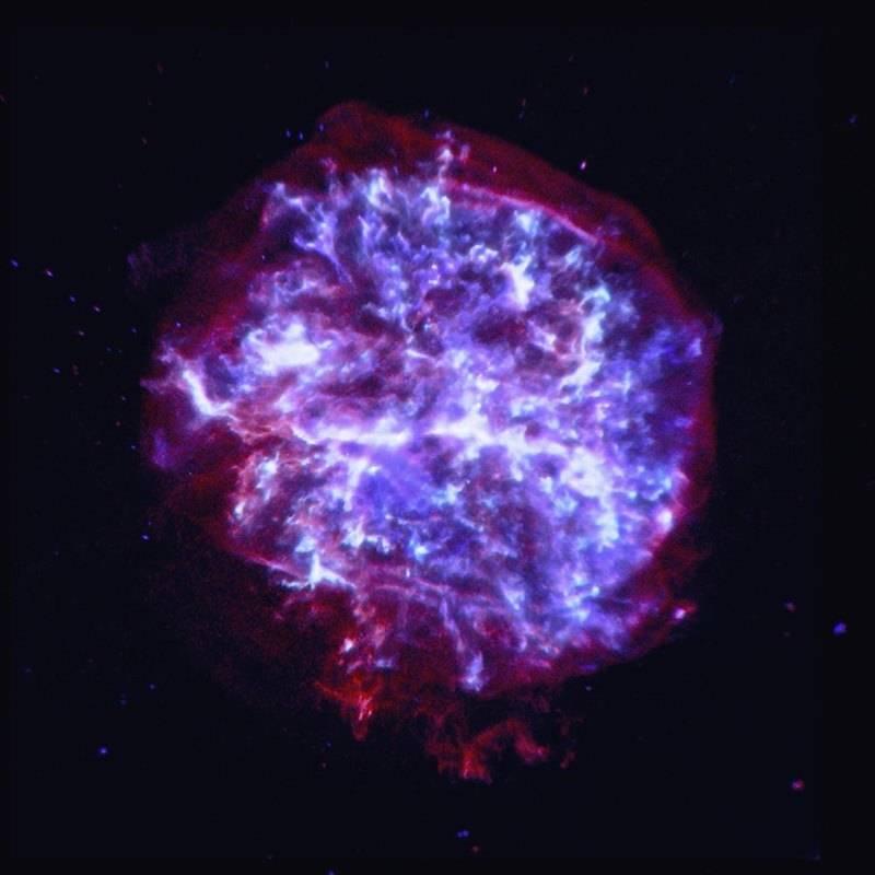 Изображение богатого кислородом остатка сверхновой G292.0+1.8