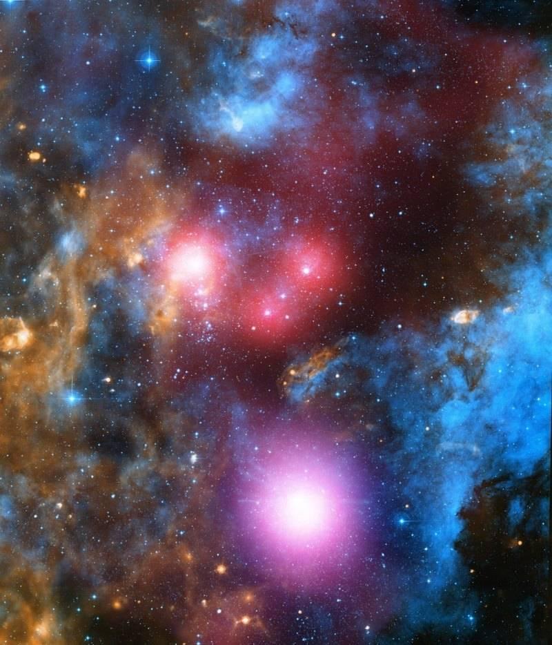 Изображение ассоциации OB-звёзд Лебедь OB2. Составлено изданных